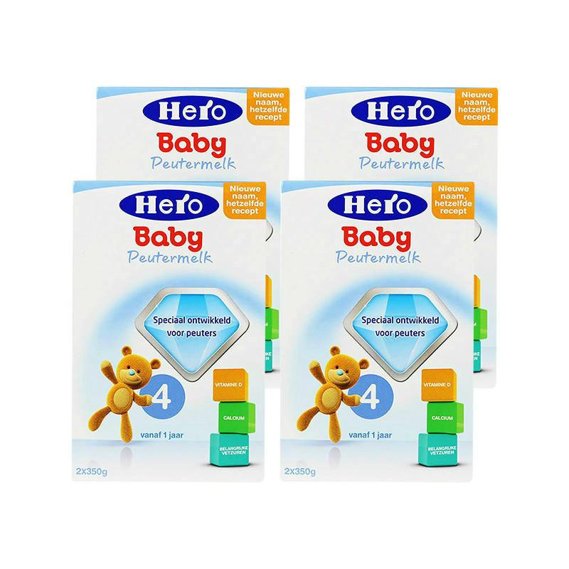 【荷兰DOD】【四罐包邮包税装】荷兰 Herobaby 美素 婴幼儿奶粉4段 700g4