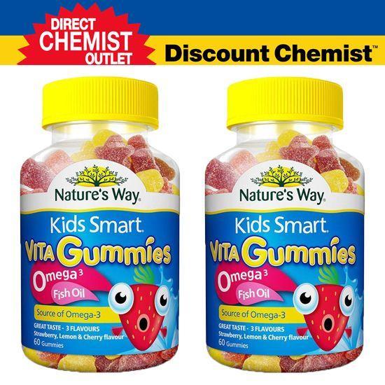 【圣诞惊爆价】Nature's Way 佳思敏 Omega-3儿童鱼油咀嚼软糖 60粒 两瓶