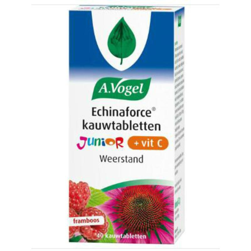 【荷兰DOD】A.Vogel 儿童天然紫锥菊+维生素C咀嚼片 2岁-12岁 40片(盆覆子味)