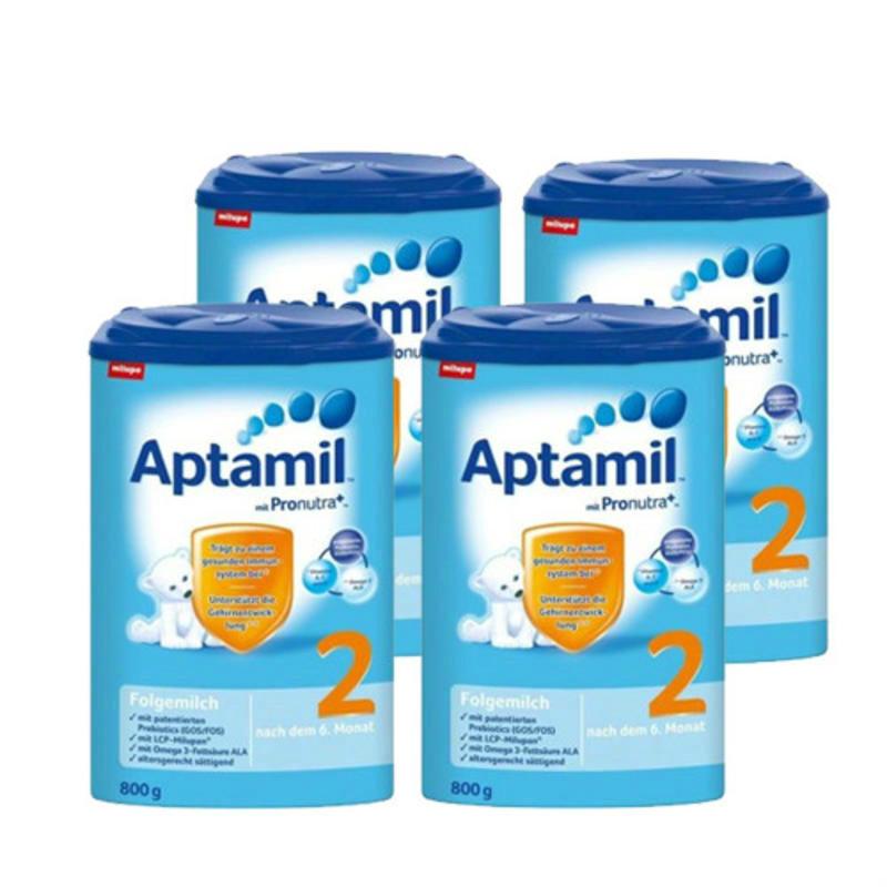 【荷兰DOD】【四罐包邮装】德国Aptamil爱他美婴幼儿奶粉2段 800g4(6m+)