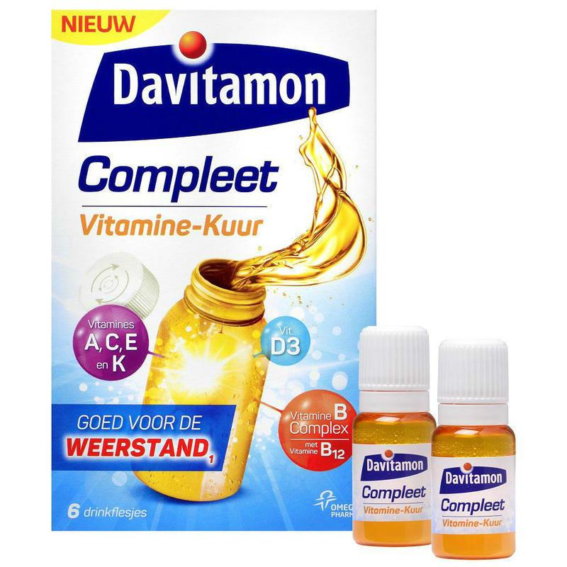 【荷兰DOD】Davitamon 多元维生素矿物质口服液(增强抵抗力/抗疲劳 )6×15ml
