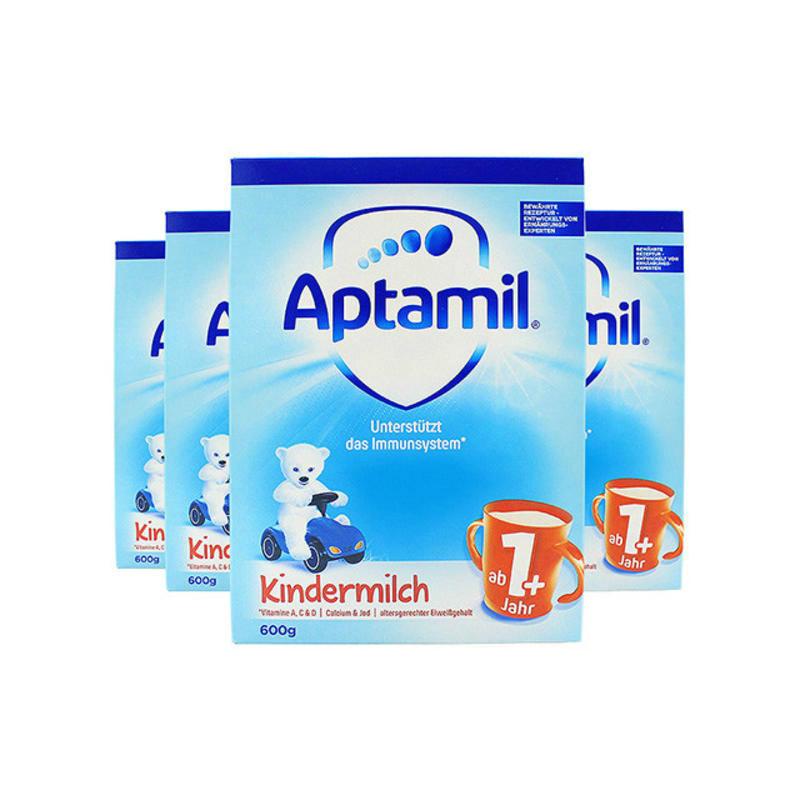 【荷兰DOD】【四罐包邮装】德国Aptamil爱他美婴幼儿奶粉1+段 麦德龙版 600g4 适合1岁以上