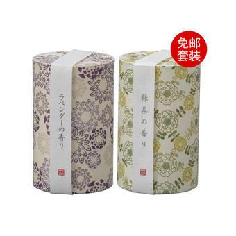 【多庆屋】龟山和遊系列线香 薰衣草香味约90g +绿茶香味 约90g