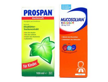 Prospan 常春藤婴幼儿糖浆 小绿叶+Mucosolvan 沐舒坦儿童糖浆