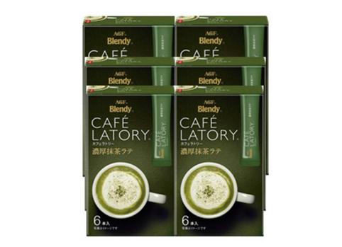 【6件包邮装】AGF Blendy CafeLatory特浓抹茶拿铁速溶咖啡 6条*6
