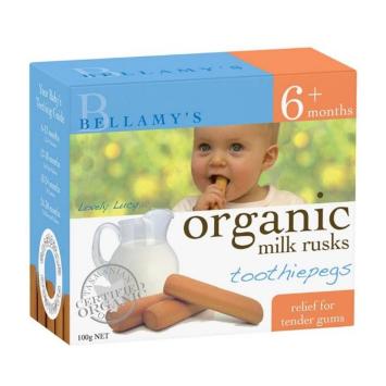 【澳洲CD药房】Bellamy&#039s 贝拉米 婴幼儿有机无糖磨牙饼干 100g (6个月以上)