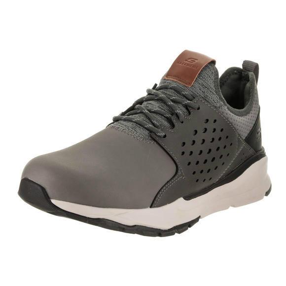 Skechers 男士Relven - Hemson Gray Casual Shoe 7.5 Men US运动鞋