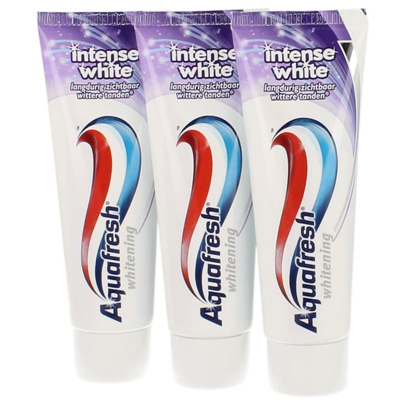 【荷兰DOD】Aquafresh 深度美白微粒子牙膏 3只装 3x75ml
