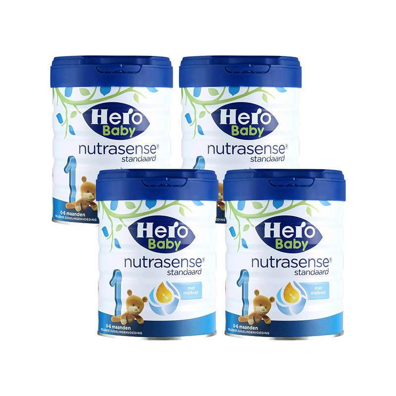 【荷兰DOD】【四罐包邮包税装】Herobaby 美素 婴幼儿奶粉1段 白金版 800g4 适合0-6个月