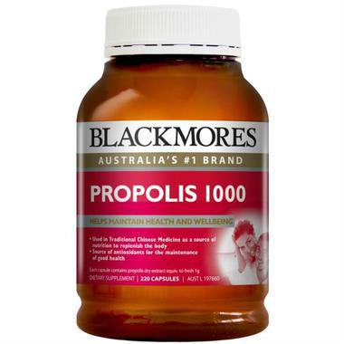 【澳洲PO药房】Blackmores 澳佳宝 蜂胶软胶囊 1000mg 220粒