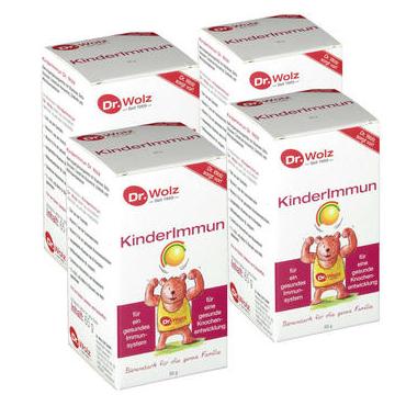 【4件装】Dr. Wolz 儿童牛初乳保健粉 65gX4 提高儿童免疫力 促进骨骼发育 2岁以上儿童成人均可用