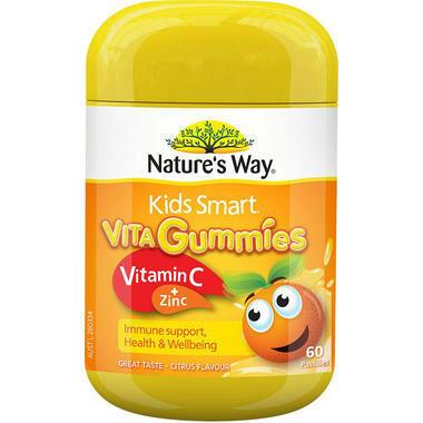 【澳洲PO药房】Nature's Way 佳思敏 Kids Smart儿童维生素C+锌软糖 60粒