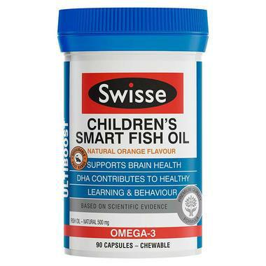 【澳洲PO药房】Swisse 儿童欧米伽鱼油益智咀嚼胶囊 90粒 (增强免疫力促进大脑发育)