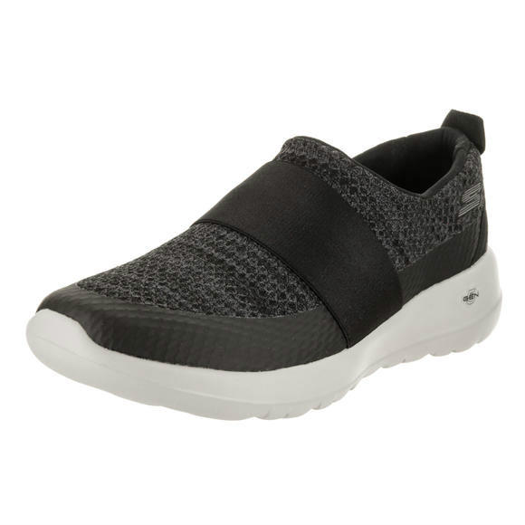 Skechers 女士 Go Walk Joy - Immense Black/Gray Slip-On Shoe 9 Women US运动鞋