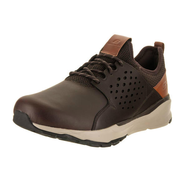 Skechers 男士Relven - Hemson - Wide Fit Chocolate Casual Shoe 11 Wide Men US运动鞋