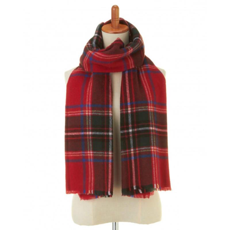 【GLADD】PREMIUM羊绒平纹格子围巾