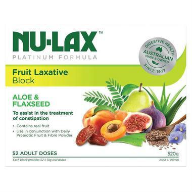 【澳洲PO药房】Nu-Lax 乐康膏 铂金版纯天然芦荟和亚麻籽果蔬膏(清理肠道)520g