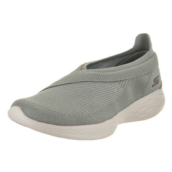 Skechers 女士You - Luxe Gray Slip-On Shoe 10 Women US运动鞋