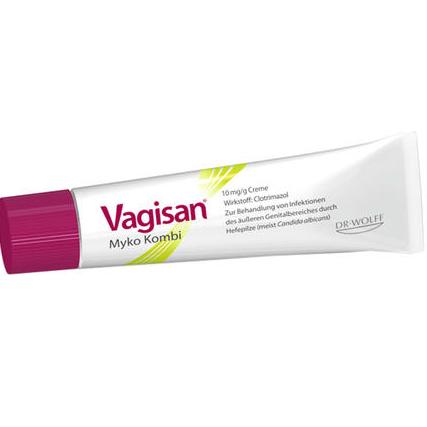 【DC德国药房】Vagisan 内置栓剂+20g外用女性私处止痒灭菌/阴道真菌软膏 套装 1套