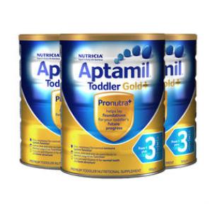 【3罐包邮装】Aptamil 爱他美 金装3段婴幼儿奶粉 900g3 澳洲/新西兰随机发货