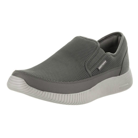 Skechers 男士 Depth Charge - Flish Charcoal Slip-On Shoe 11.5 Men US運動鞋