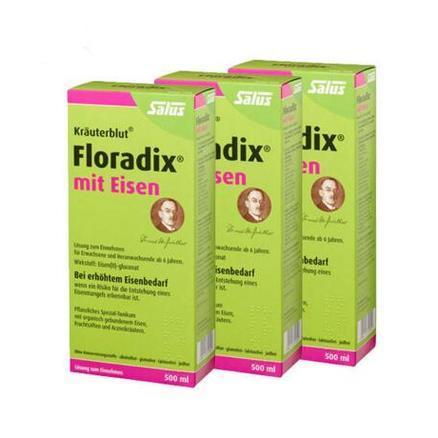 【德国BA】3 x Salus Floradix 铁元补铁补气补血抗疲劳 500ml