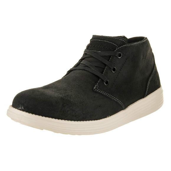Skechers 斯凯奇男士地位-Rolano 黑色休闲鞋8.5 人US运动鞋