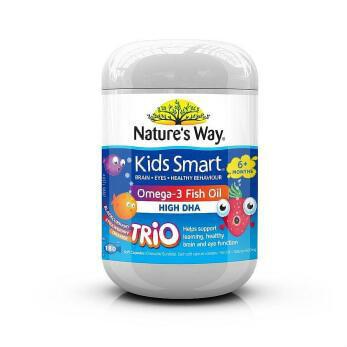 【澳洲CD药房】Nature&#039s Way 儿童DHA鱼油胶囊 180粒
