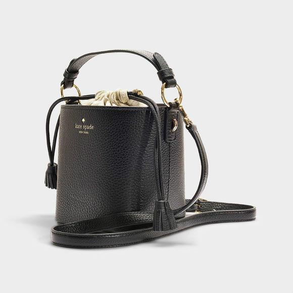Kate Spade New York黑色小牛皮水桶包