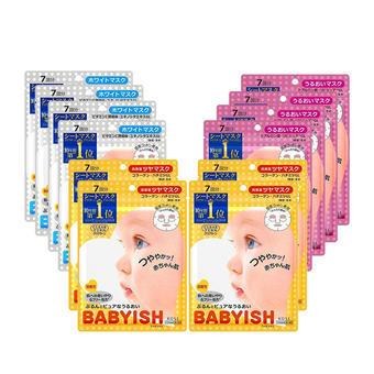 【多庆屋】高丝婴儿肌面膜(含美白款4盒+弹力款4盒+保湿款4盒)