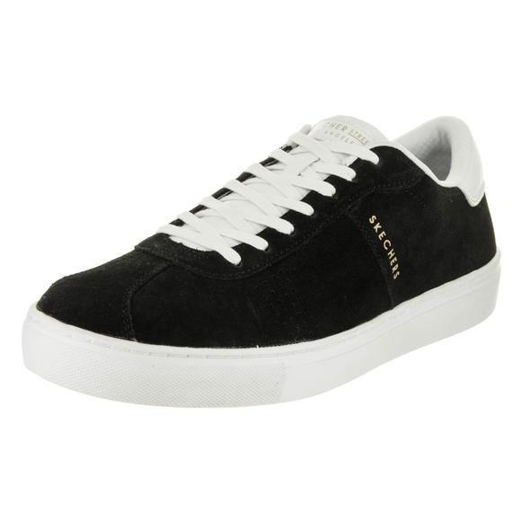 Skechers Sckechers 男士侧街黑/白生活方式鞋8.5 人美国运动鞋