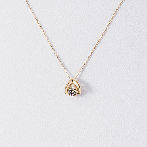 【松屋百货】松屋原创 Dancing Stone 钻石白金项链 K18 0.1克拉