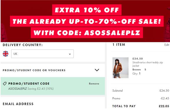 Asos英國官網優惠碼2019, 現有精選商品低至3折促銷,不需用碼,優惠直接顯示在頁面