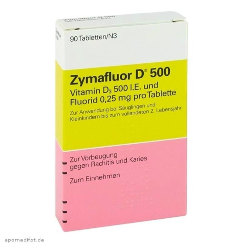 【德国BA】Zymafluor 维生素D500 婴幼儿营养片90粒