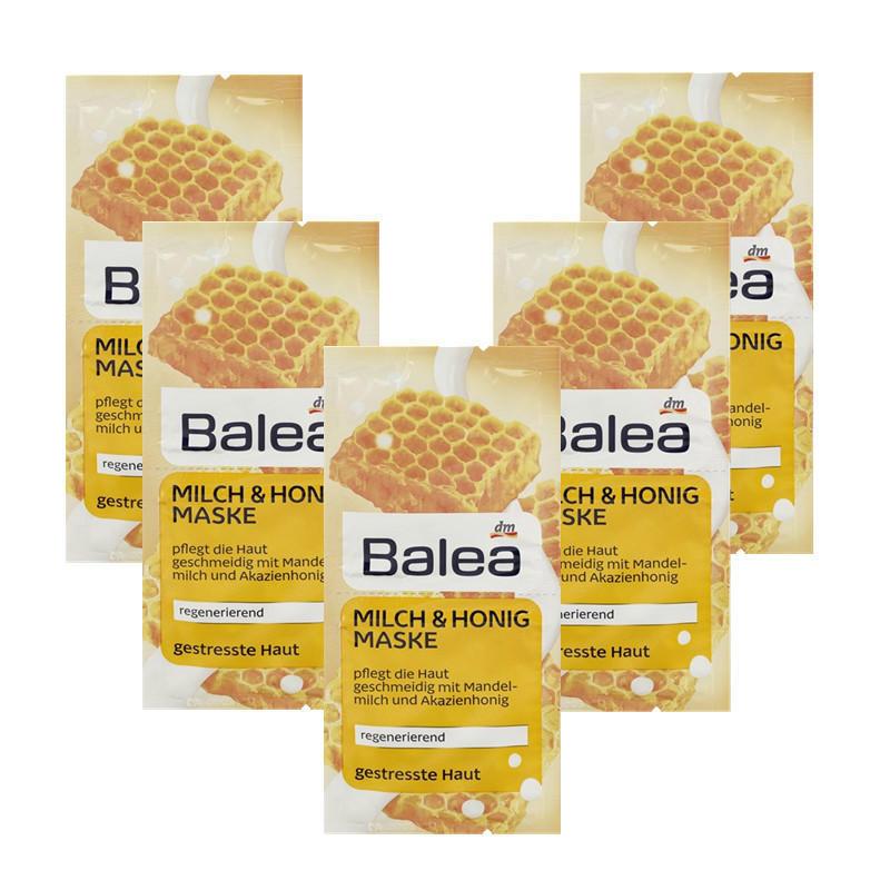 【德国BA】Balea 芭乐雅 牛奶蜂蜜新生美白面膜 2x8 ml 5片装