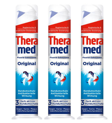 【德国BA】Theramed 泰瑞美 强效固齿站立式牙膏 超强抗菌 100ml 3支装
