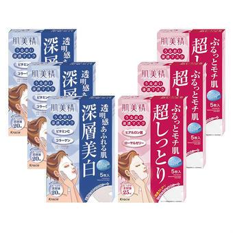 【多庆屋】肌美精深层渗透面膜(高保湿款3盒+美白款3盒)