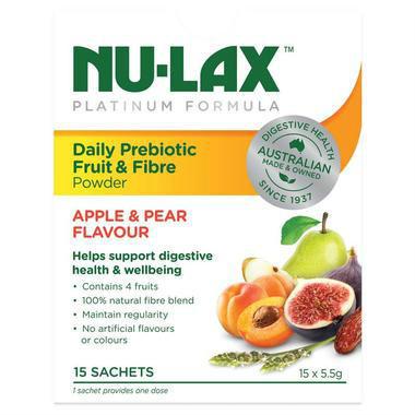 【澳洲PO药房】Nu-Lax 乐康膏 铂金版每日益生菌水果纤维粉(扛饿粉) 5.5gX15袋