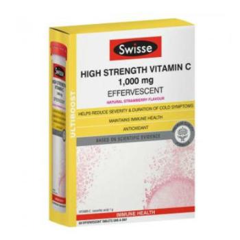 【澳洲CD药房】Swisse Ultiboost 高强度维生素C泡腾片 3×20片