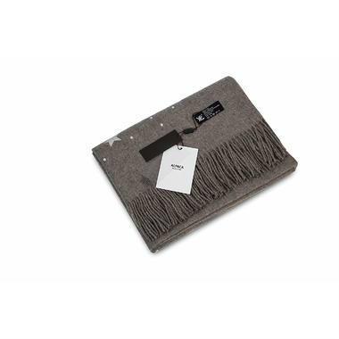 【澳洲PO药房】YPL 星空羊驼绒围巾(灰色)1条