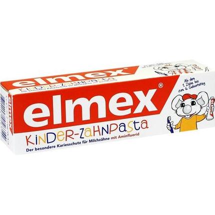 【DC德国药房】Elmex 易学 婴幼儿可吞咽牙膏 50ml 出牙起至6岁适用