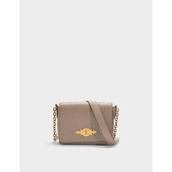 Polo Ralph Lauren Brooke链条灰褐色小牛皮女士手袋