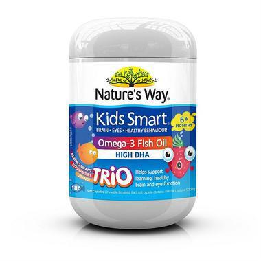 【澳洲PO药房】Nature's Way 儿童DHA鱼油胶囊 180粒