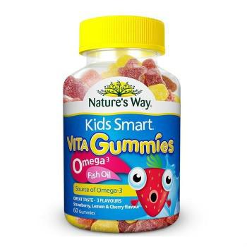 【澳洲CD药房】Nature's Way 佳思敏 Omega-3儿童鱼油咀嚼软糖 60粒