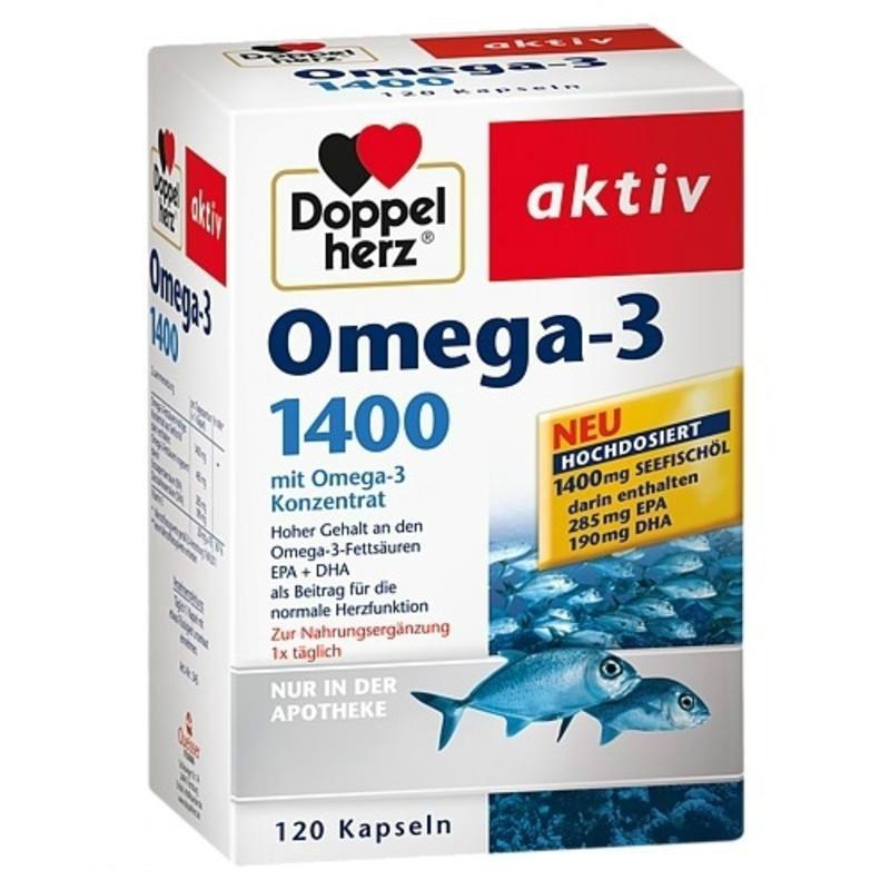 【德国BA】Doppelherz 双心 深海鱼油 Omega-3 1400mg胶囊 120粒