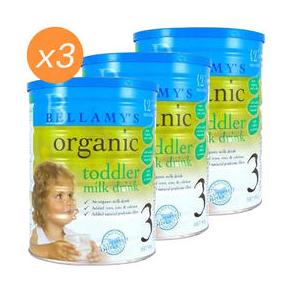 【PD新西兰药房】【3罐包邮装】Bellamy&#039s 贝拉米 有机婴幼儿配方奶粉 3段 900g3