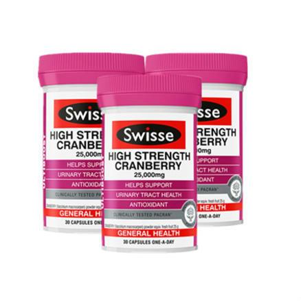 【情人节提前购包邮套装】Swisse 澳洲蔓越莓精华胶囊 30粒 | 3件