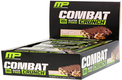 MusclePharm 烤制蛋白质棒 巧克力曲奇口味 12条装(756克)