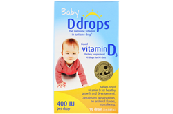 Ddrops 婴儿用液体维生素D3 400国际单位(2.5ml)